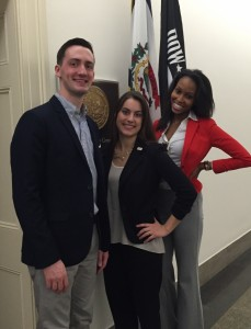 TRIO students advocating for support in Washington D.C.