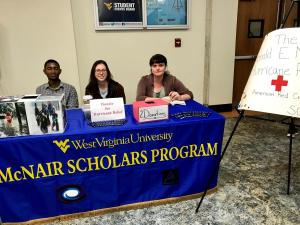 McNair Scholars manning table