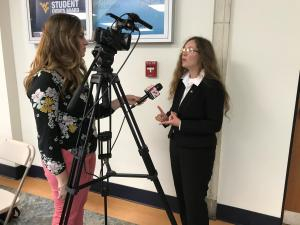 Miranda being interviewed 2